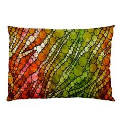 Orange Green Zebra Bling Pattern  Pillow Cases