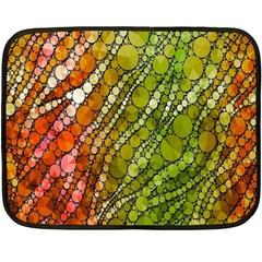 Orange Green Zebra Bling Pattern  Fleece Blanket (mini)