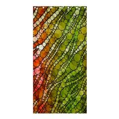 Orange Green Zebra Bling Pattern  Shower Curtain 36  x 72  (Stall)