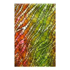 Orange Green Zebra Bling Pattern  Shower Curtain 48  X 72  (small)