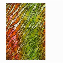 Orange Green Zebra Bling Pattern  Small Garden Flag (Two Sides)