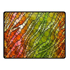 Orange Green Zebra Bling Pattern  Double Sided Fleece Blanket (Small)