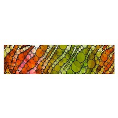 Orange Green Zebra Bling Pattern  Satin Scarf (Oblong)