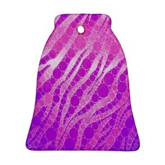 Florescent Pink Zebra Pattern  Ornament (bell)