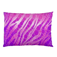 Florescent Pink Zebra Pattern  Pillow Cases (Two Sides)