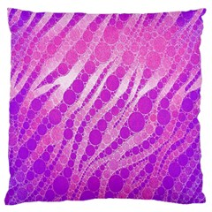 Florescent Pink Zebra Pattern  Large Flano Cushion Cases (One Side)