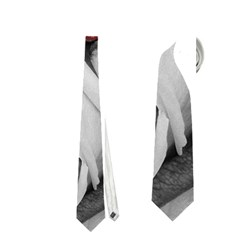 Blach,white Splash Roses Neckties (One Side)