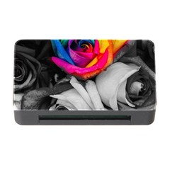 Blach,white Splash Roses Memory Card Reader with CF