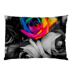 Blach,white Splash Roses Pillow Cases (Two Sides)