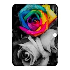 Blach,white Splash Roses Samsung Galaxy Tab 4 (10 1 ) Hardshell Case