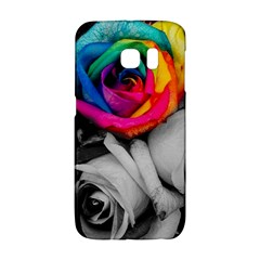 Blach,white Splash Roses Galaxy S6 Edge