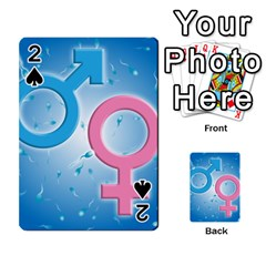 Sperm and Gender Symbols  Playing Cards 54 Designs