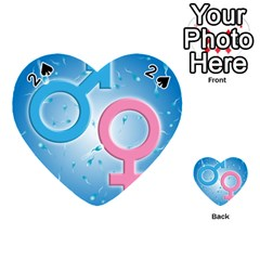Sperm and Gender Symbols  Playing Cards 54 (Heart)