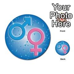 Sperm and Gender Symbols  Multi-purpose Cards (Round)