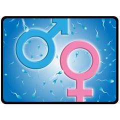 Sperm and Gender Symbols  Fleece Blanket (Large)
