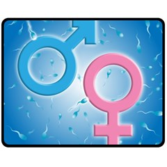 Sperm and Gender Symbols  Fleece Blanket (Medium)