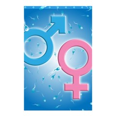 Sperm and Gender Symbols  Shower Curtain 48  x 72  (Small)