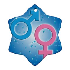 Sperm And Gender Symbols  Ornament (snowflake)