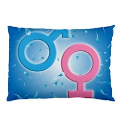 Sperm and Gender Symbols  Pillow Cases (Two Sides)
