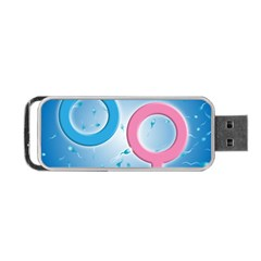 Sperm and Gender Symbols  Portable USB Flash (One Side)