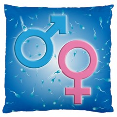 Sperm and Gender Symbols  Standard Flano Cushion Cases (One Side)