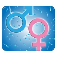 Sperm and Gender Symbols  Double Sided Flano Blanket (Small)