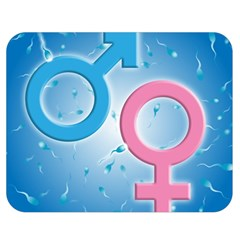 Sperm and Gender Symbols  Double Sided Flano Blanket (Medium)