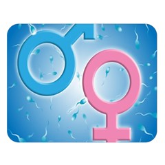 Sperm and Gender Symbols  Double Sided Flano Blanket (Large)