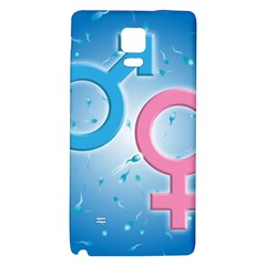 Sperm and Gender Symbols  Galaxy Note 4 Back Case