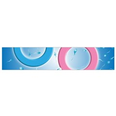 Sperm And Gender Symbols  Flano Scarf (small)