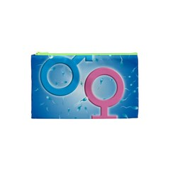 Sperm and Gender Symbols  Cosmetic Bag (XS)
