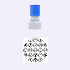 Emotion Pills Rubber Round Stamps (Small)