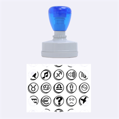 Emotion Pills Rubber Oval Stamps
