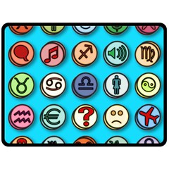 Emotion Pills Double Sided Fleece Blanket (large)