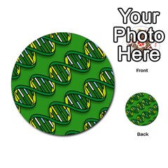 Dna Pattern Multi Purpose Cards (round)