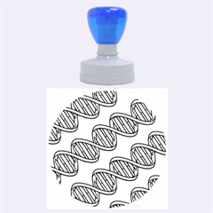 DNA Pattern Rubber Round Stamps (Large)