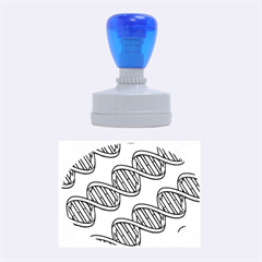 Dna Pattern Rubber Oval Stamps