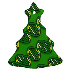 DNA Pattern Christmas Tree Ornament (2 Sides)