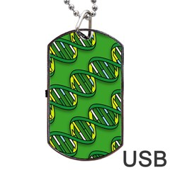 Dna Pattern Dog Tag Usb Flash (two Sides)
