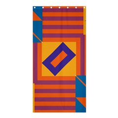 Shapes and stripes symmetric design	Shower Curtain 36  x 72