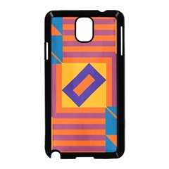 Shapes And Stripes Symmetric Design Samsung Galaxy Note 3 Neo Hardshell Case