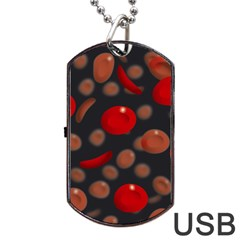Blood Cells Dog Tag Usb Flash (one Side)