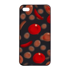 Blood Cells Apple iPhone 4/4s Seamless Case (Black)