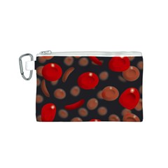 Blood Cells Canvas Cosmetic Bag (S)