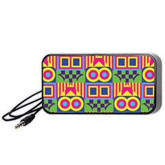 Colorful Shapes In Rhombus Pattern Portable Speaker