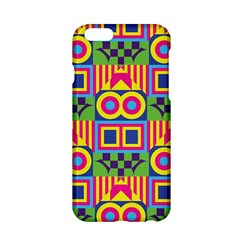 Colorful Shapes In Rhombus Pattern Apple Iphone 6 Hardshell Case