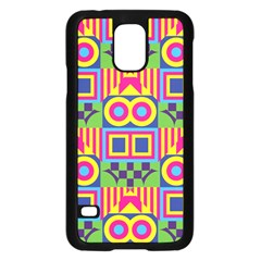 Colorful Shapes In Rhombus Patternsamsung Galaxy S5 Case