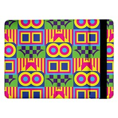 Colorful Shapes In Rhombus Patternsamsung Galaxy Tab Pro 12 2  Flip Case
