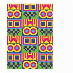 Colorful shapes in rhombus pattern Small Garden Flag