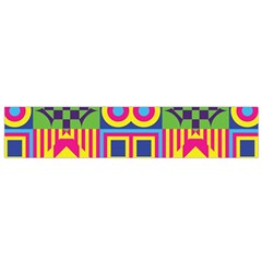 Colorful shapes in rhombus pattern Flano Scarf